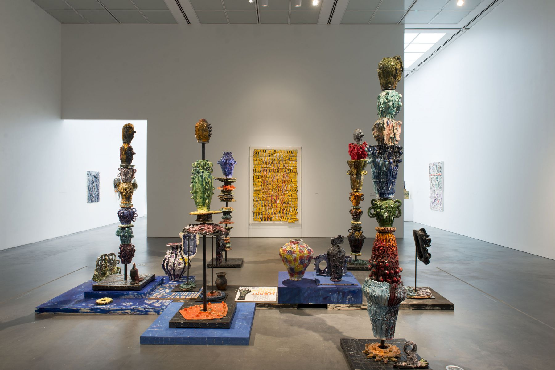 an exhibition of the ceramic works of william j. o'brien in a museum in chicago
