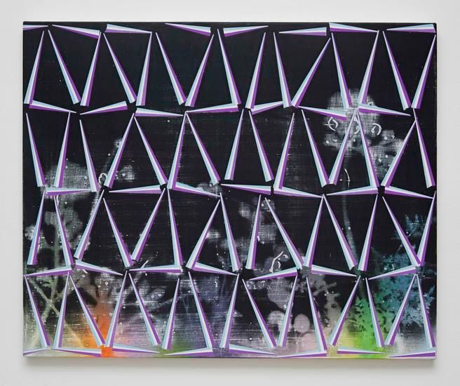 Untitled (fr.15-02), 2014, Spray paint and acrylic on canvas