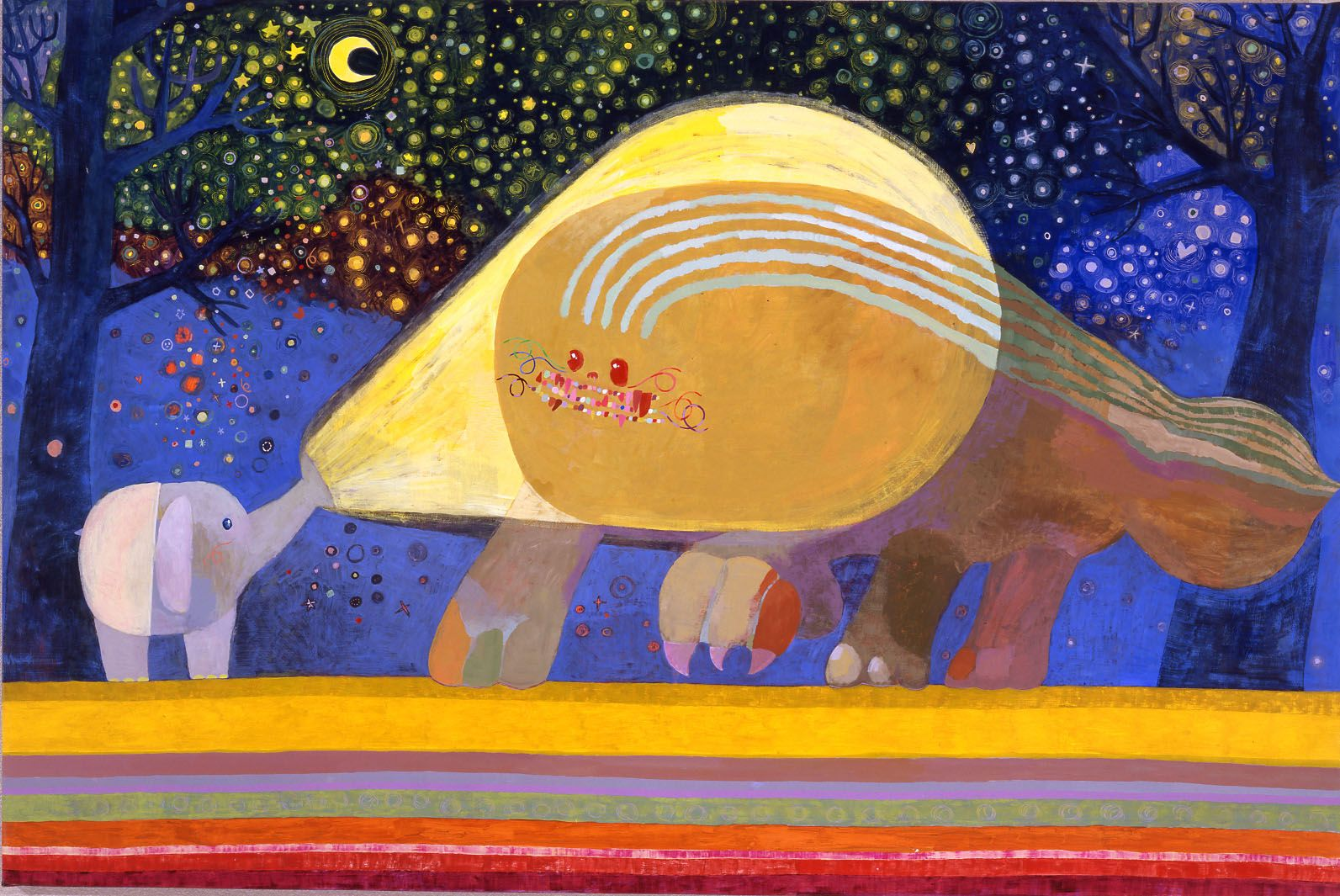 scene with elephant and large creature by chinatsu ban