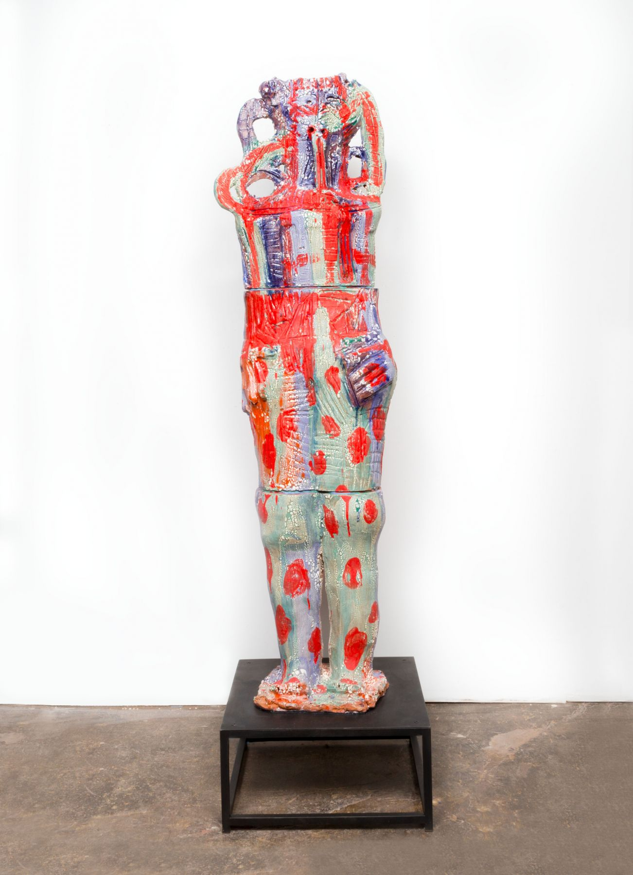 a ceramic sculpture by william j. o'brien in a nyc contemporary art gallery