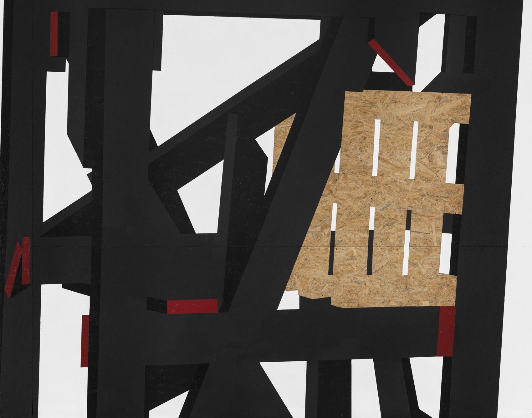 Fragile Cargo X: Studio Study I, 2013, Paint on wood