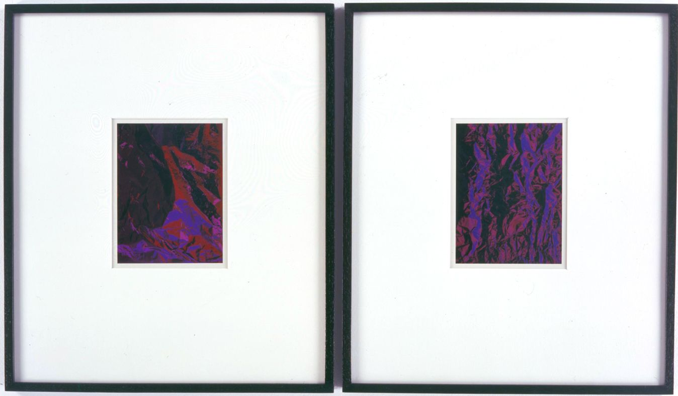 two purple photographs by anthony pearson