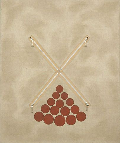 Lot 092107 (X15o), 2007, Oil, cotton, aluminum, rabbit skin glue and poly vinyl acetate on linen in artist's wood frame