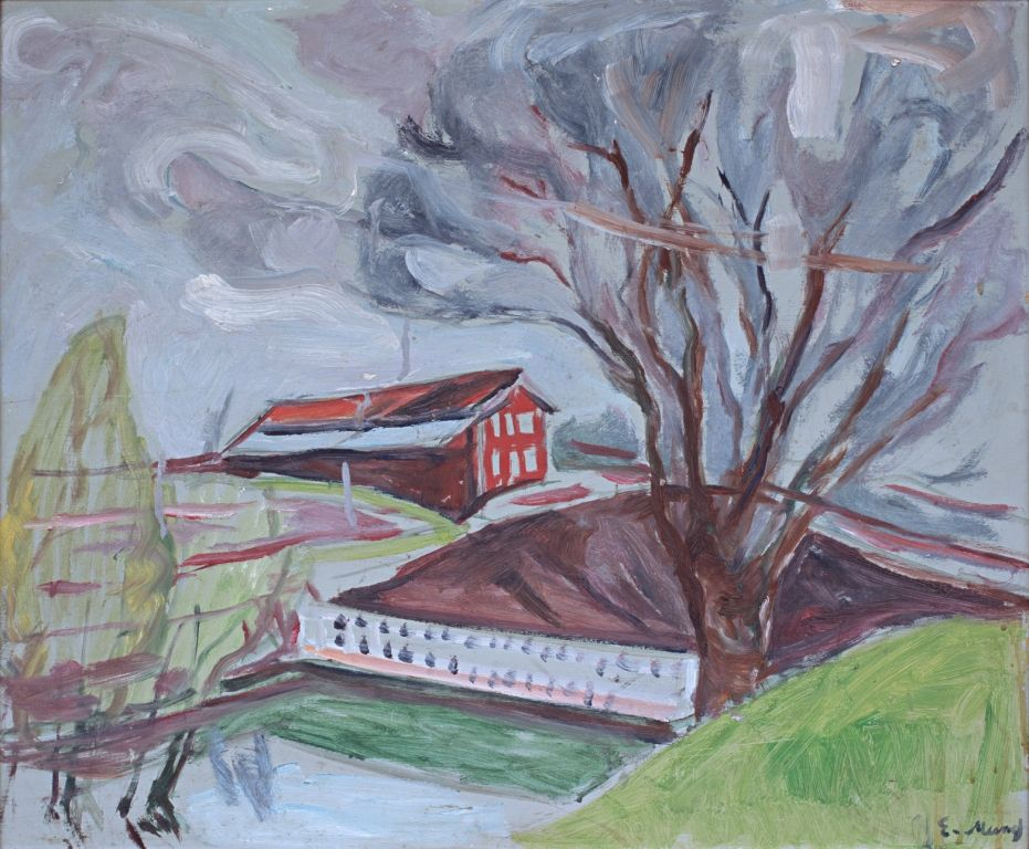 Edvard Munch, The Red House, 1926-1930