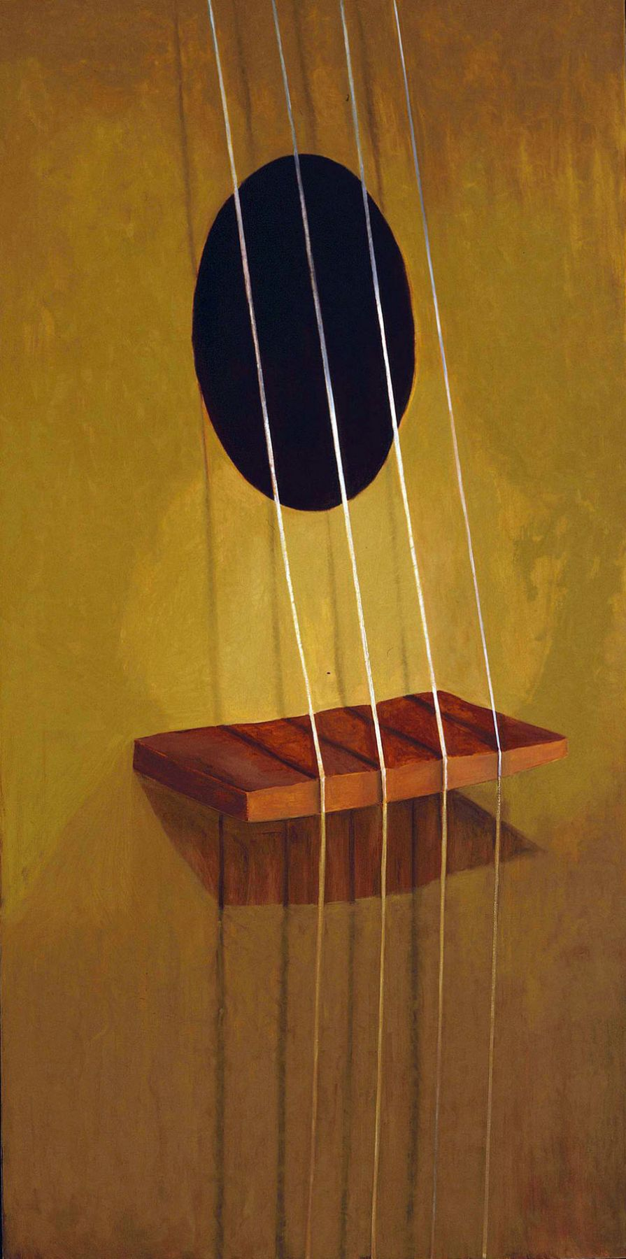 painting of a guitar by jesse chapman