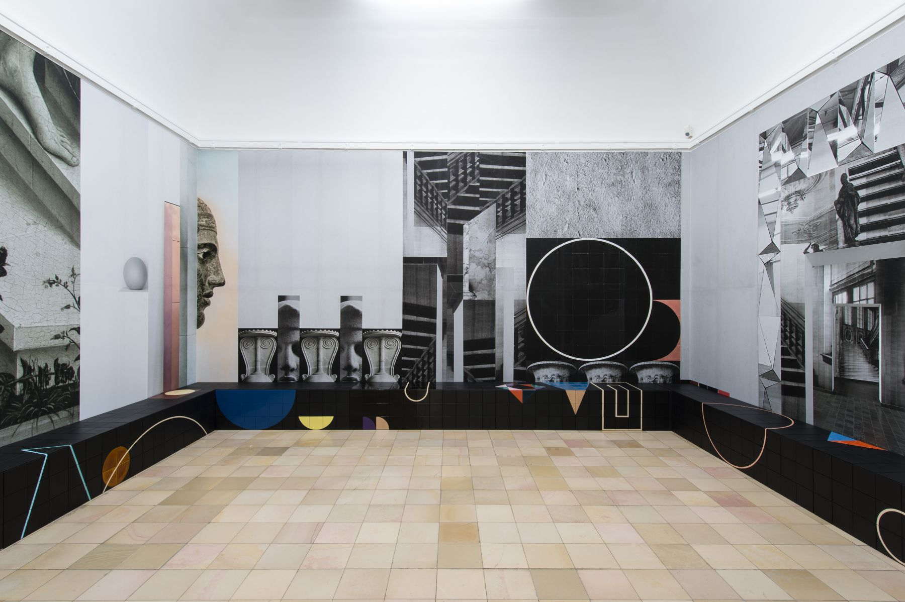 installation of an exhibition by claudia wieser in a museum in germany