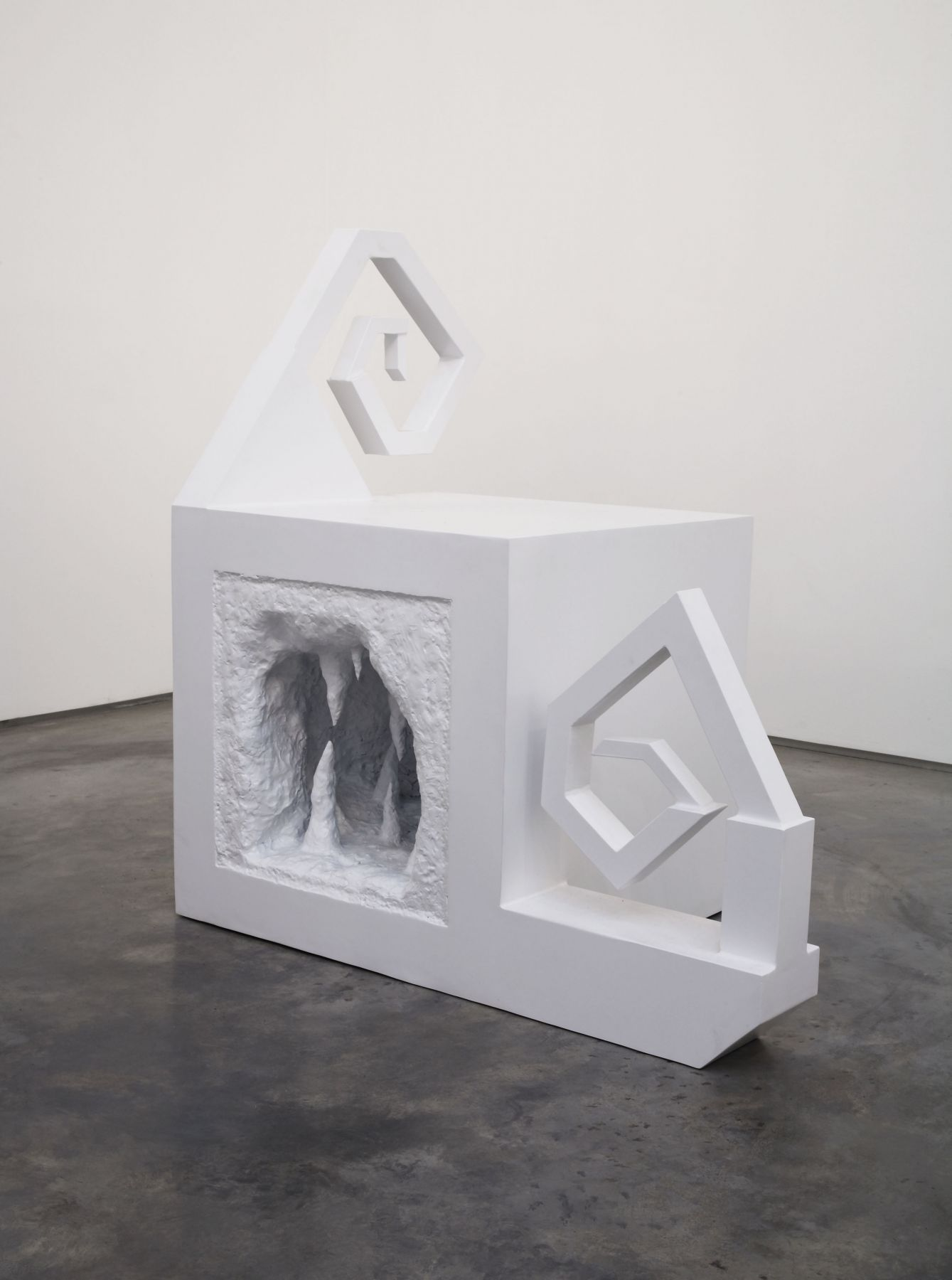 sculpture by liz craft with stalactites and stalagmites