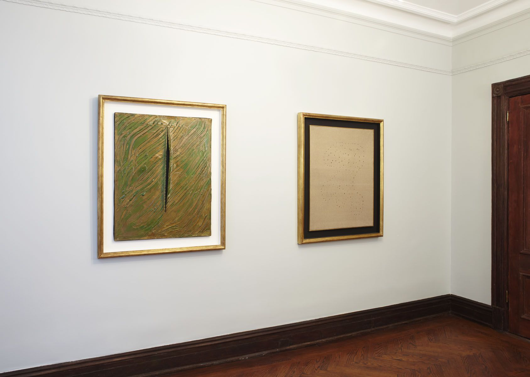 Lucio Fontana: Paintings 1956 - 1968 (Installation View), Marianne Boesky Gallery, Uptown, 2010