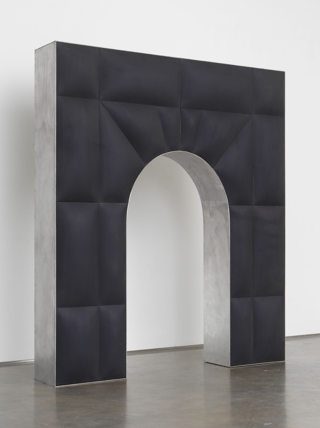Untitled, 2017, Fiberglass-reinforced plaster and oil on cotton, wood, aluminum