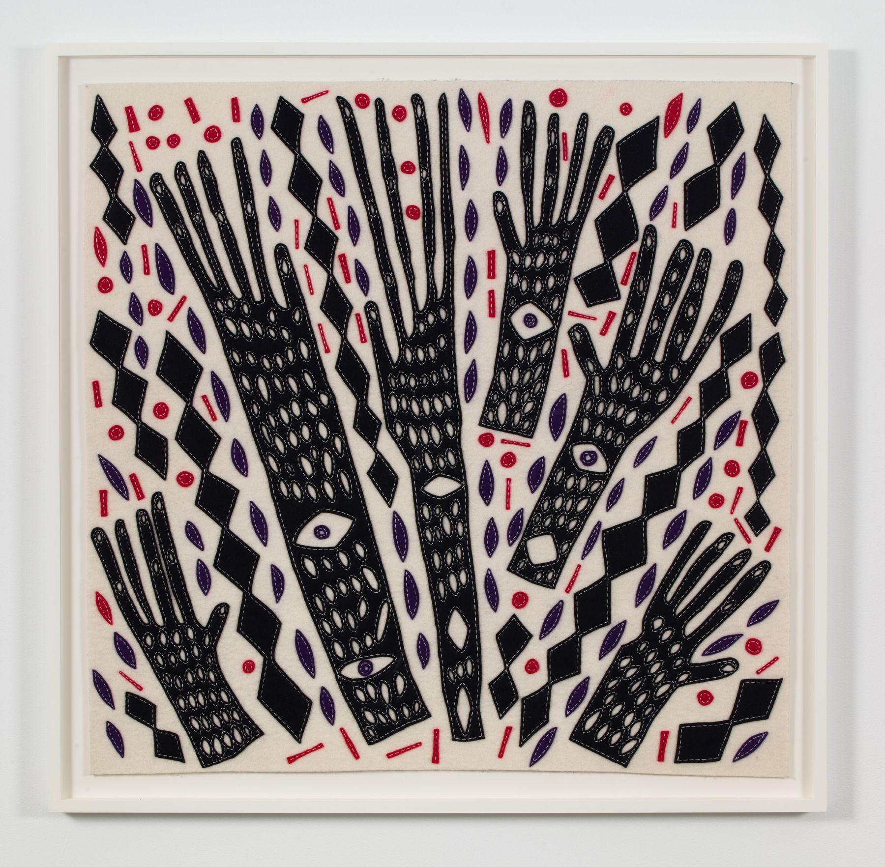 an artwork made of felt by contemporary artist william j. o'brien