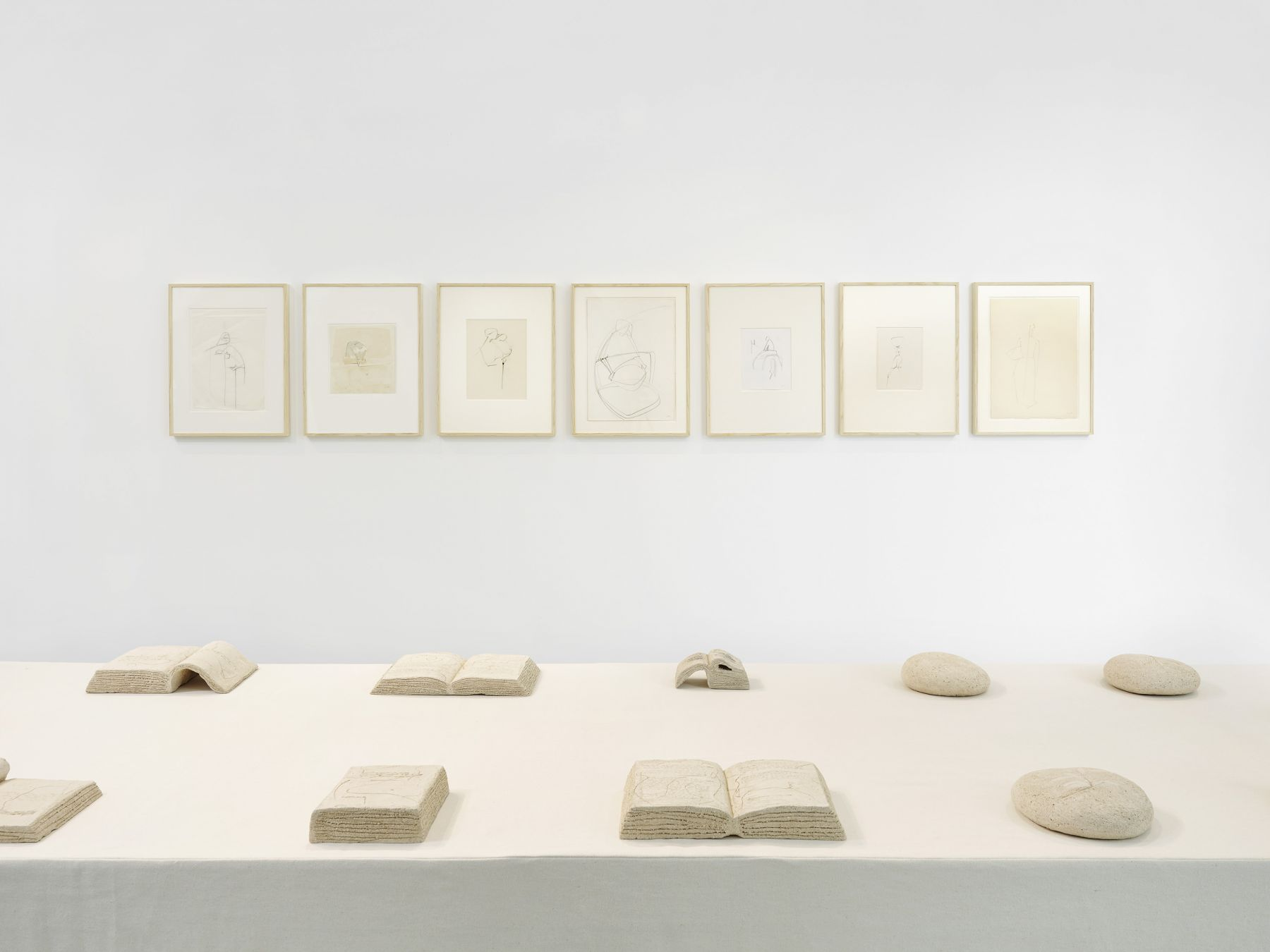 exhibition of textile and paper works by maria lai in a chelsea art gallery