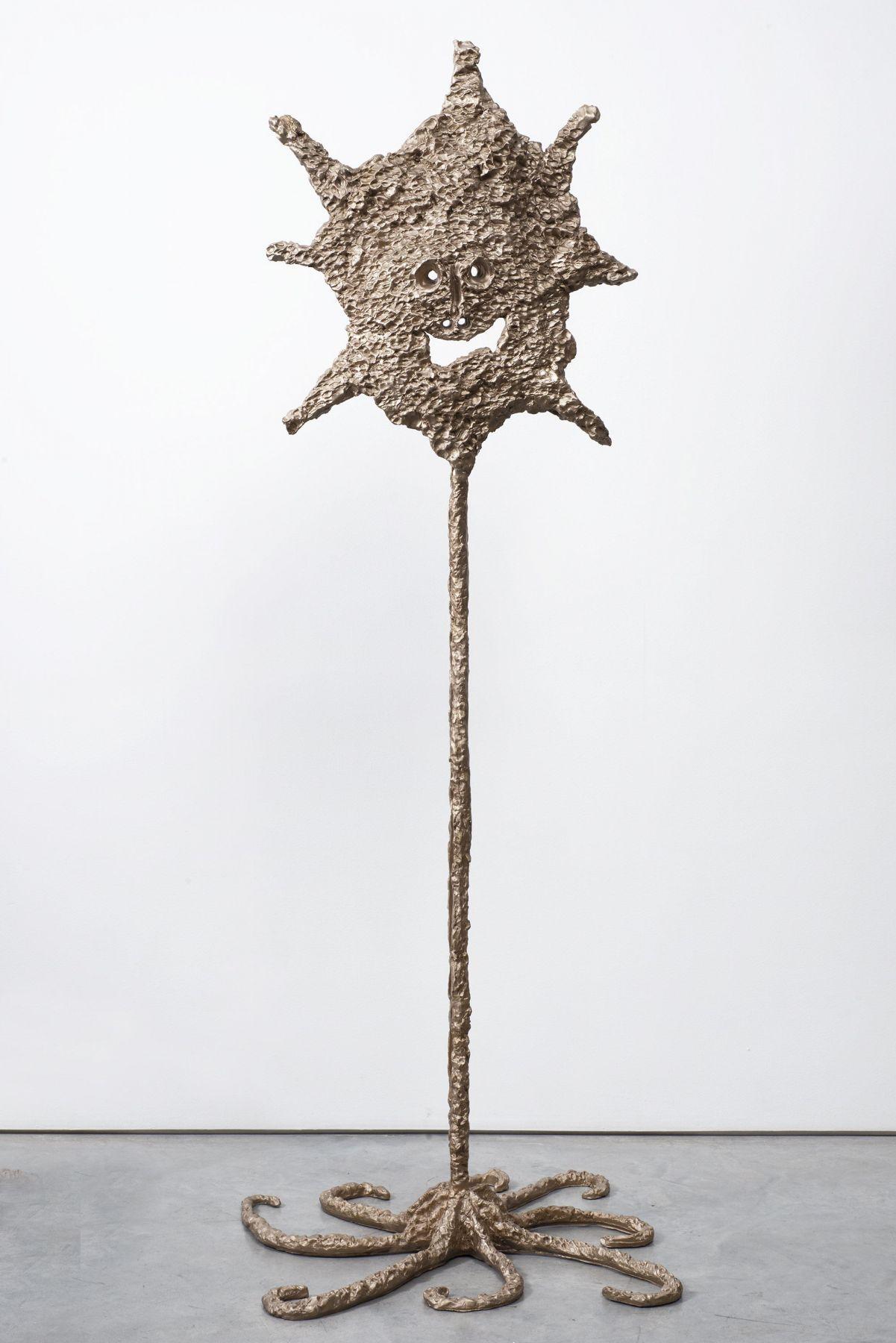 a bronze sculpture of a starfish by ceramic sculptor william j. o'brien