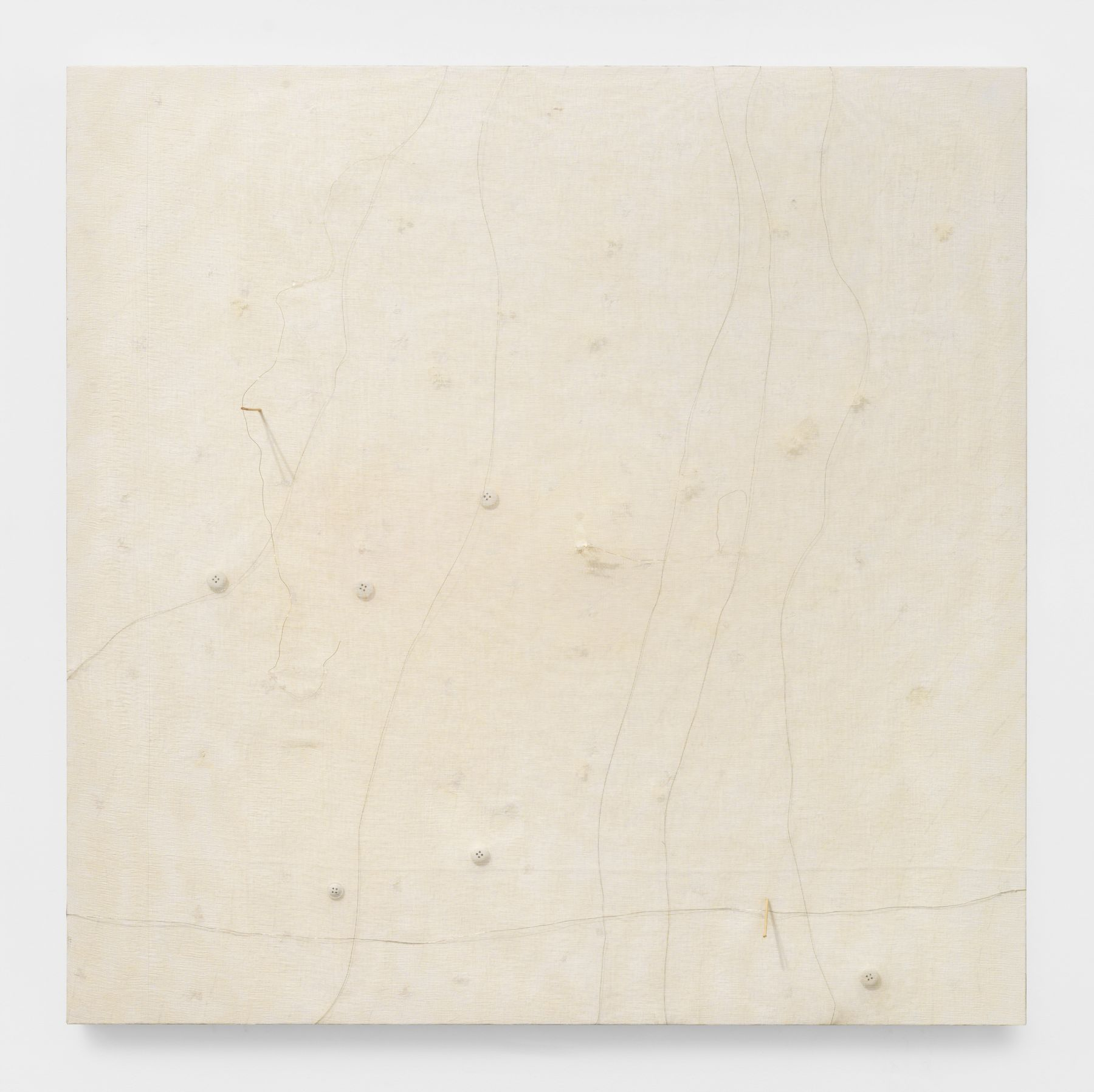 minimal painting by Pier Paolo Calzolari in a gallery in New York