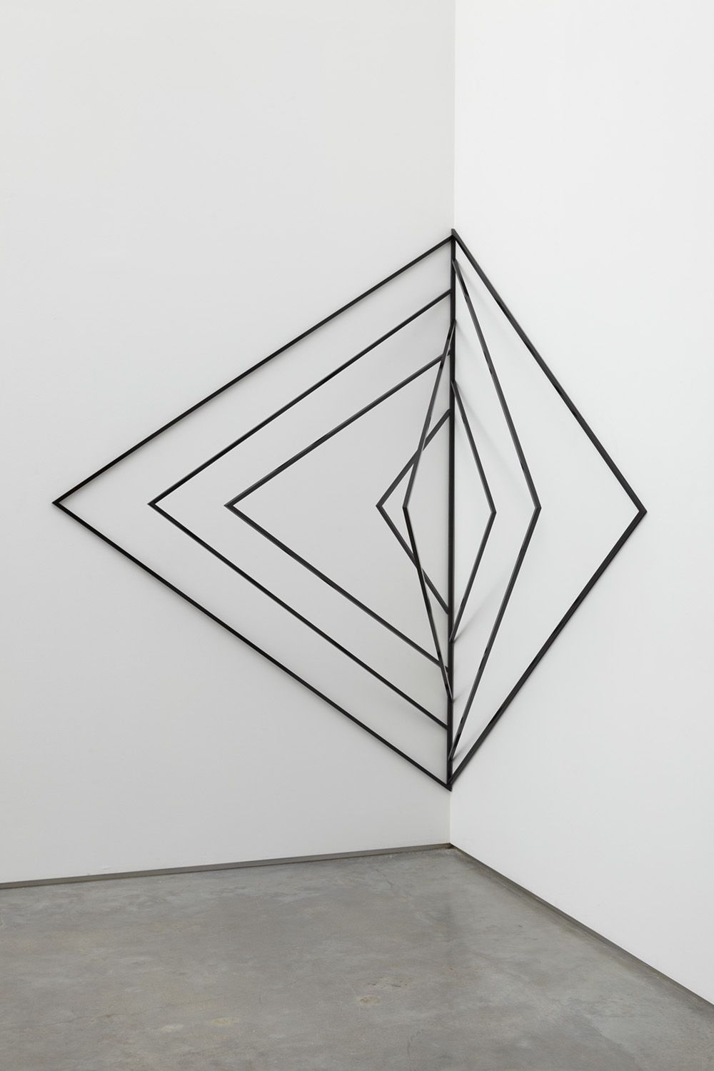 triangular sculpture by eva rothschild