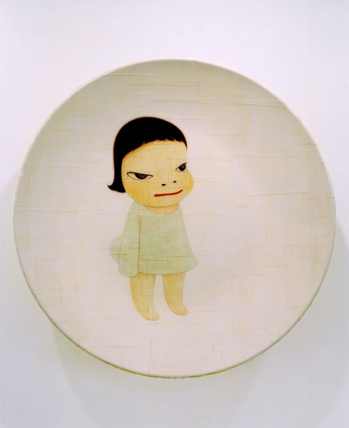 MIA, 2002 Acrylic on canvas over fiberglass, 70 3/4 inches (179.7 cm) diameter