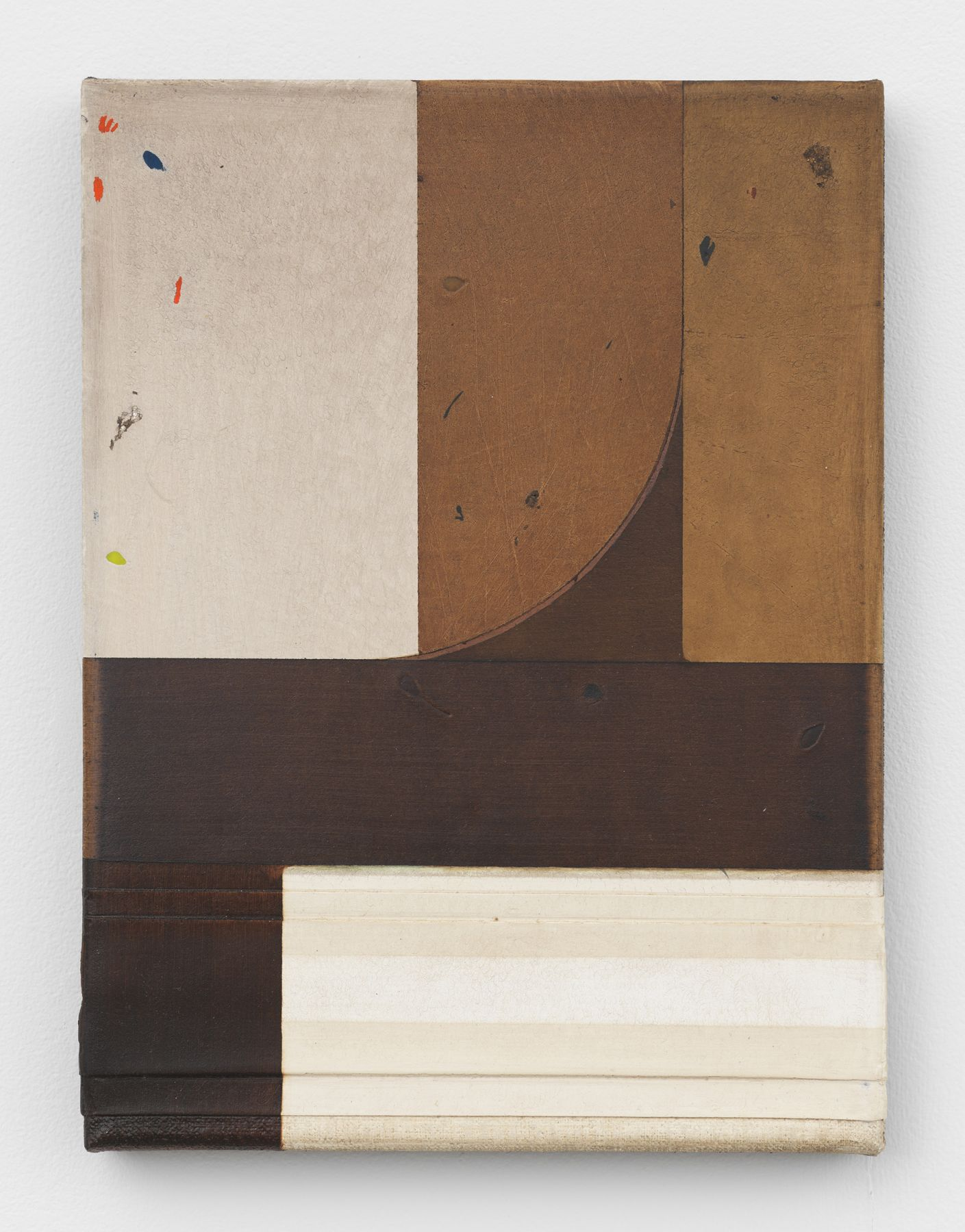 A painting by Svenja Deininger on view in a New York City gallery