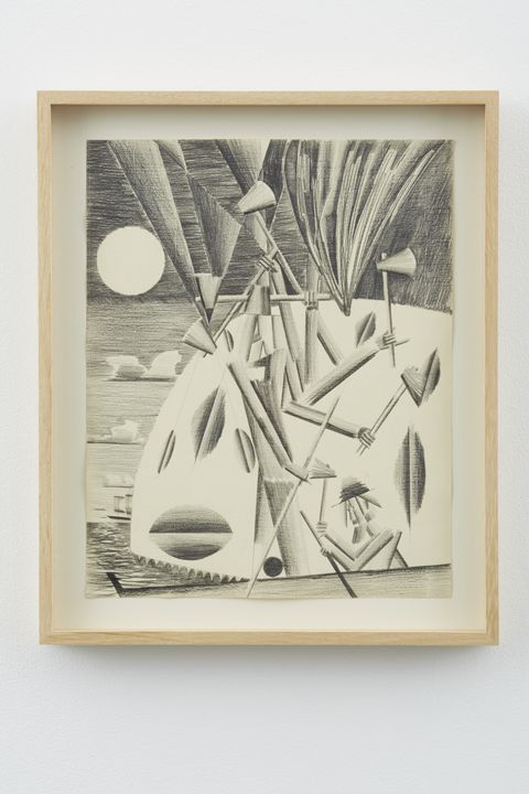 The Whaler - Fire in the Hole, 2012, Graphite on paper