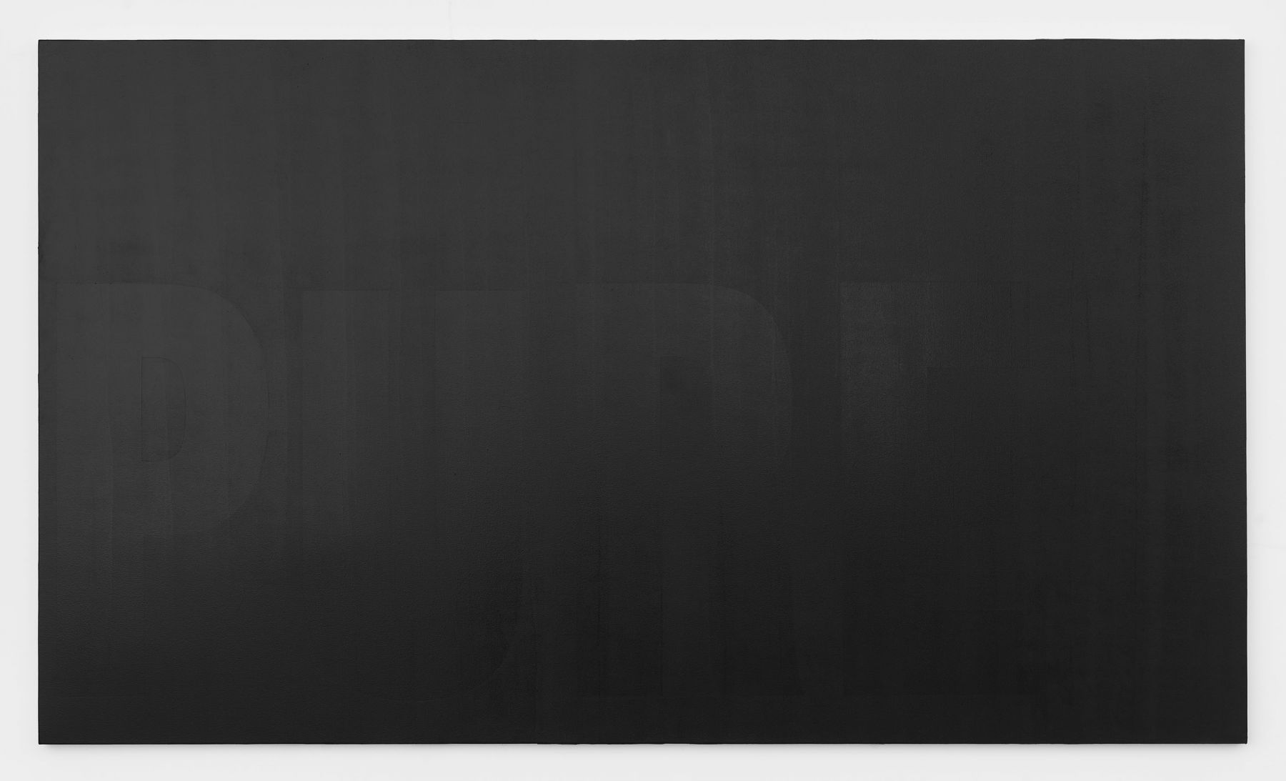 Pure, 2017 Behr Pure Black Paint 8620 on canvas