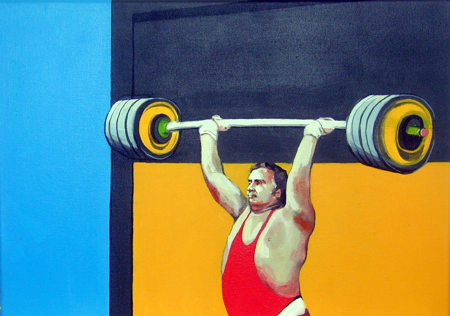 portrait of a gymnast wearing red by franziska holstein