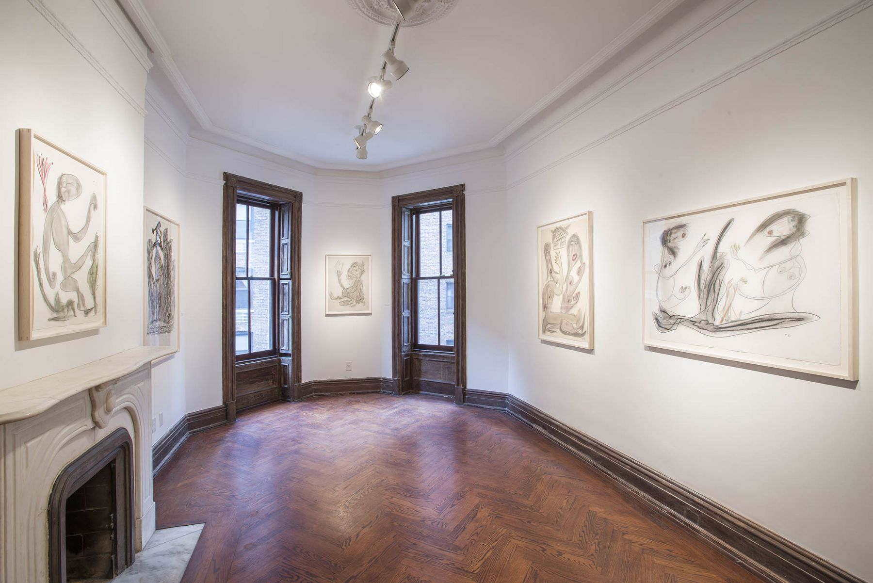 Works on Paper(Installation View), 118 East 64th Street, 2015