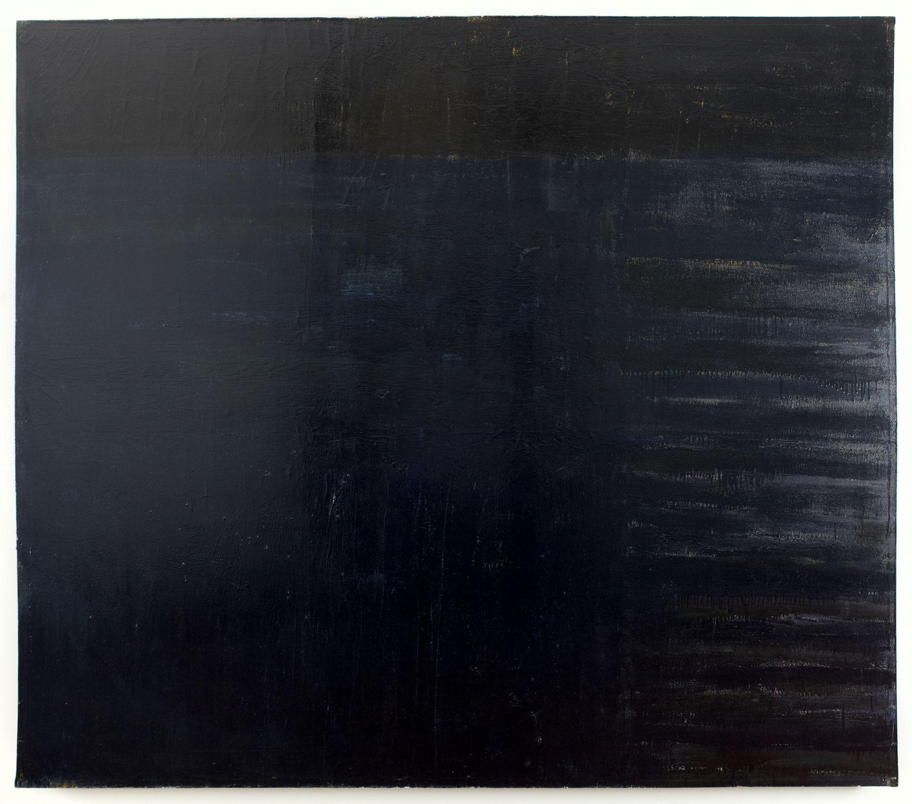 black painting by frank stella