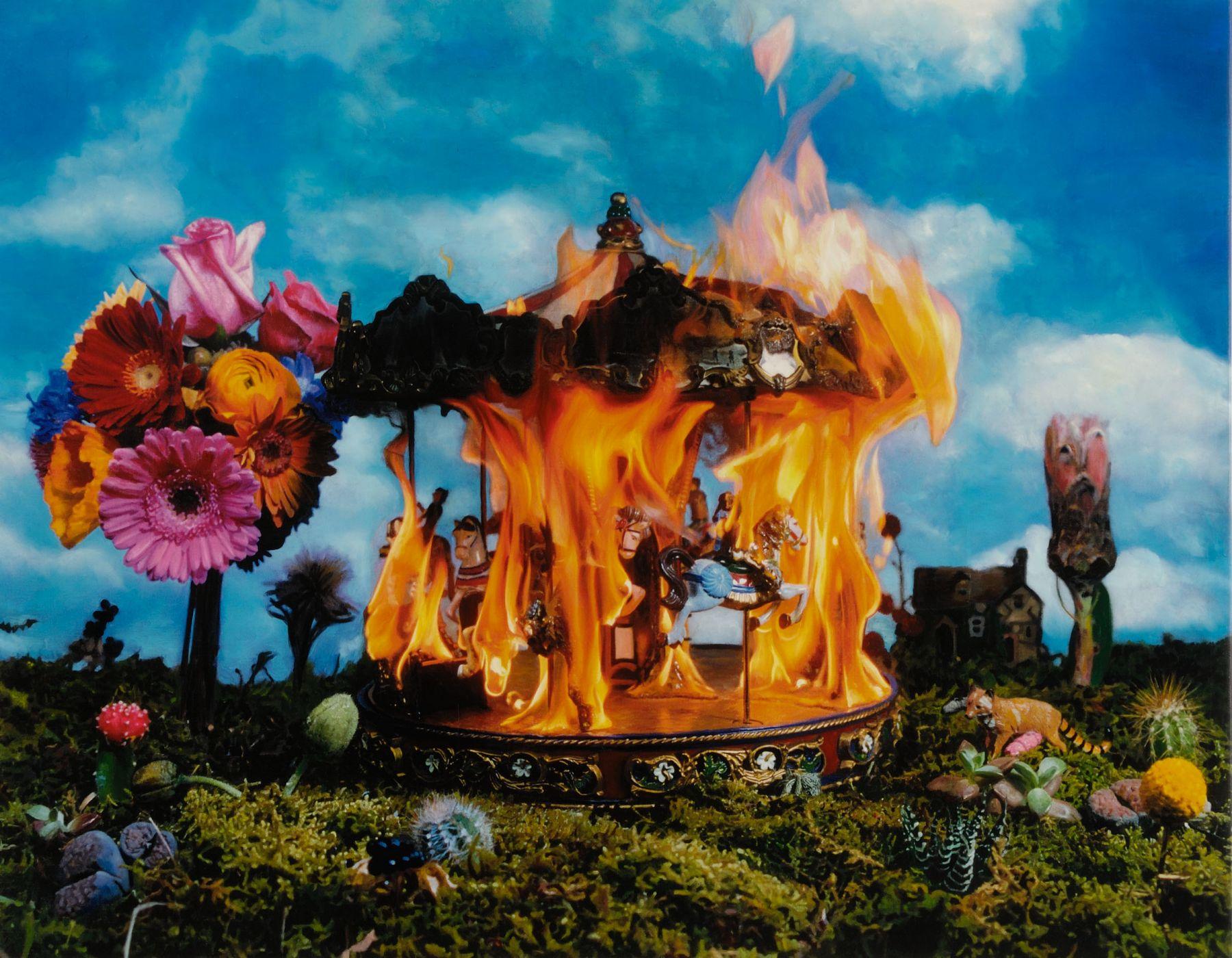 flaming flower structure by tetsutaro kamatani
