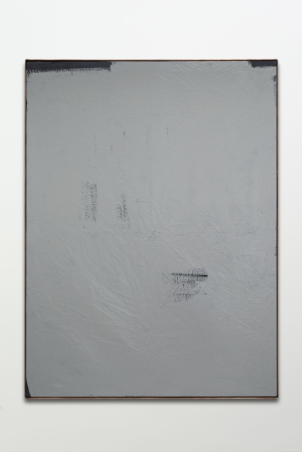 a grey abstract painting by dashiell manley