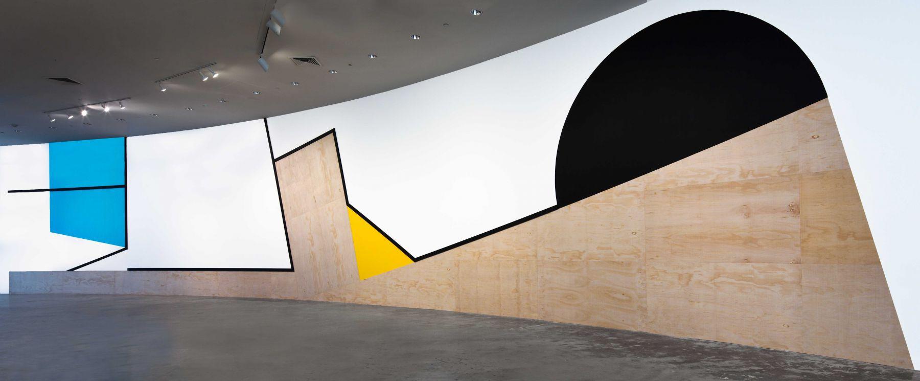 large abstract geometric artwork in a florida museum by serge alain nitegeka