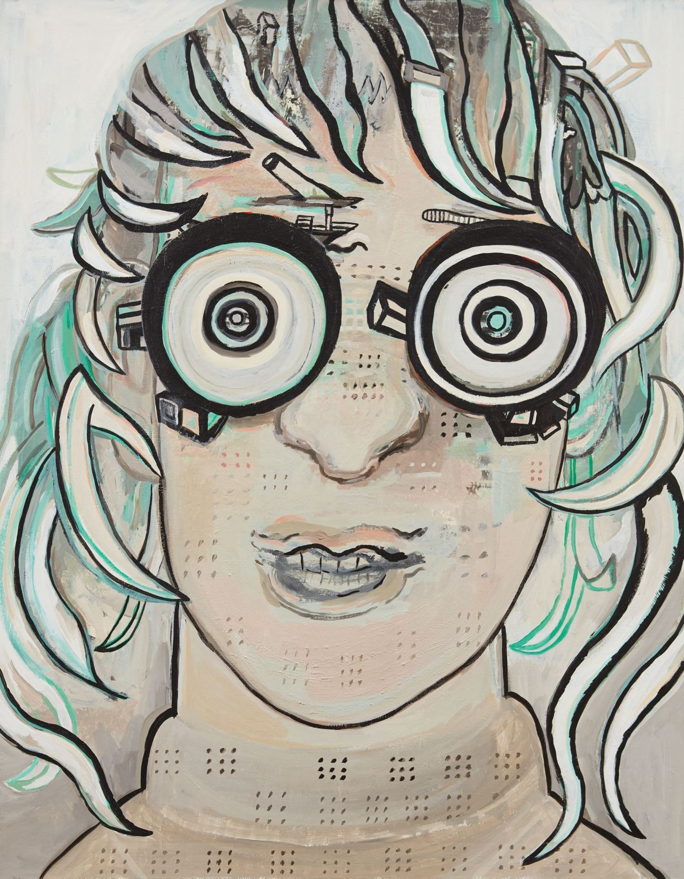 girl with large eyes by hannah van bart