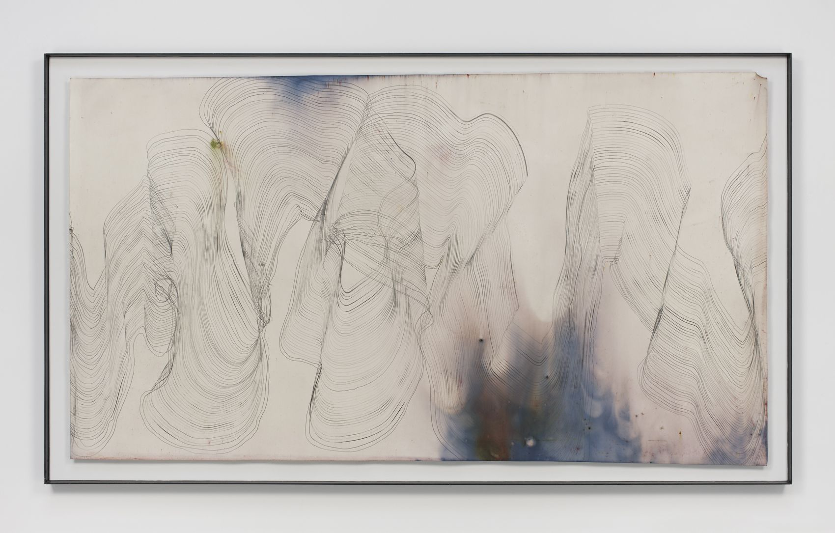 Music for Minor Planets (Spinoza), 2013, Graphite and pigment on dyed and bleached paper