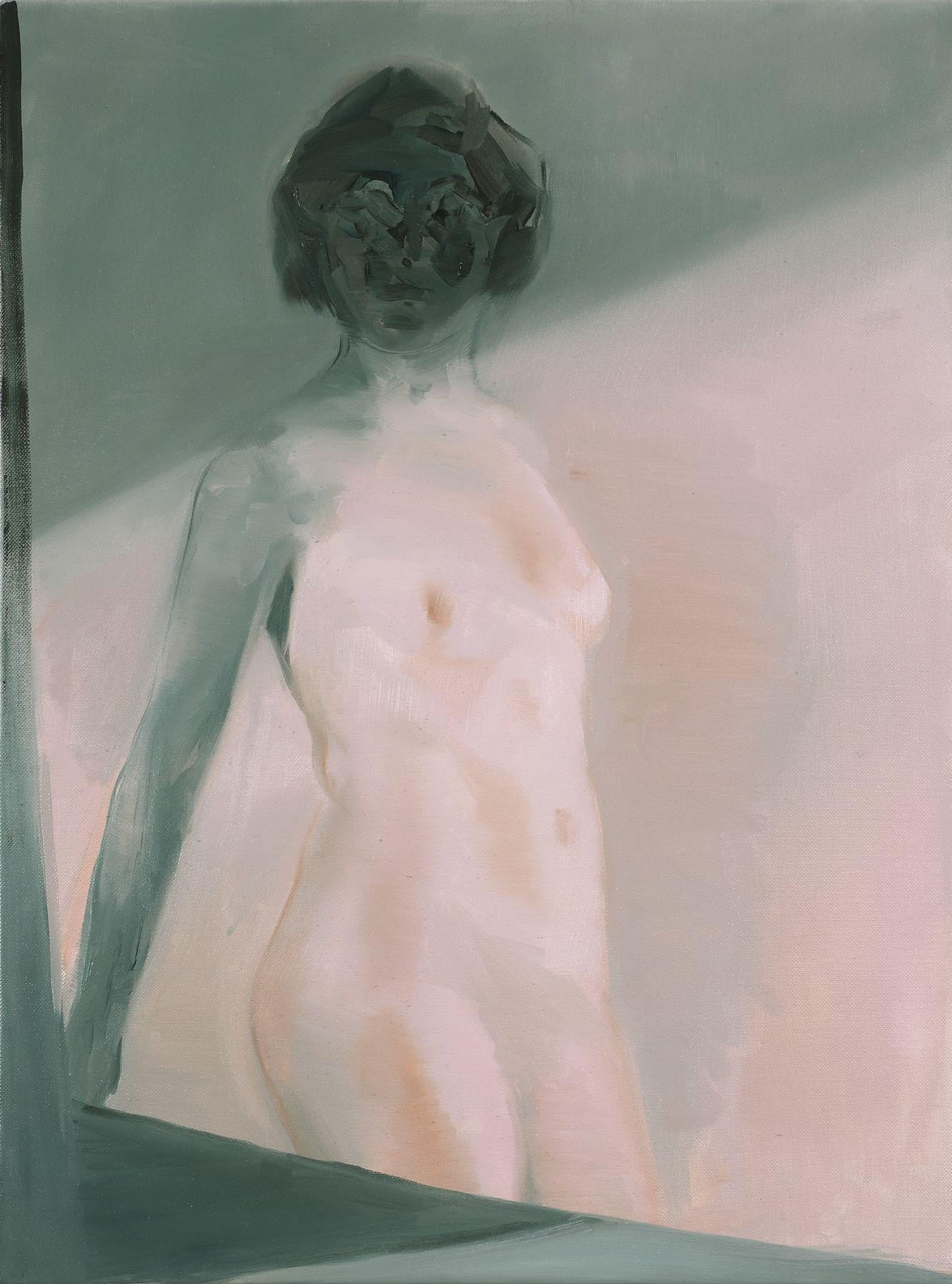 portrait of a nude woman in the light by kaye donache