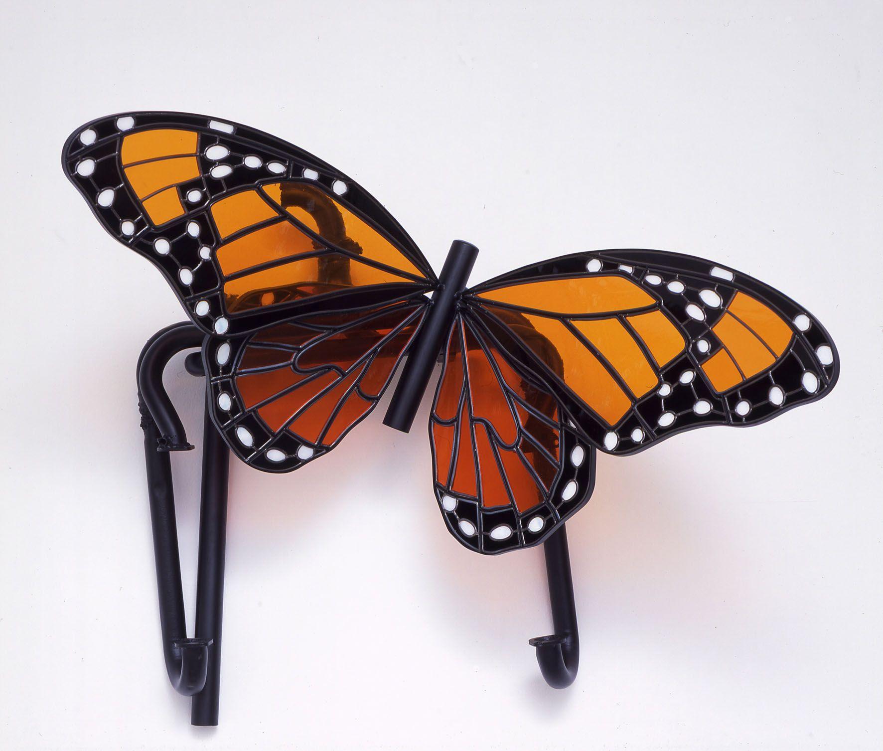 glass sculpture of a butterfly by liz craft