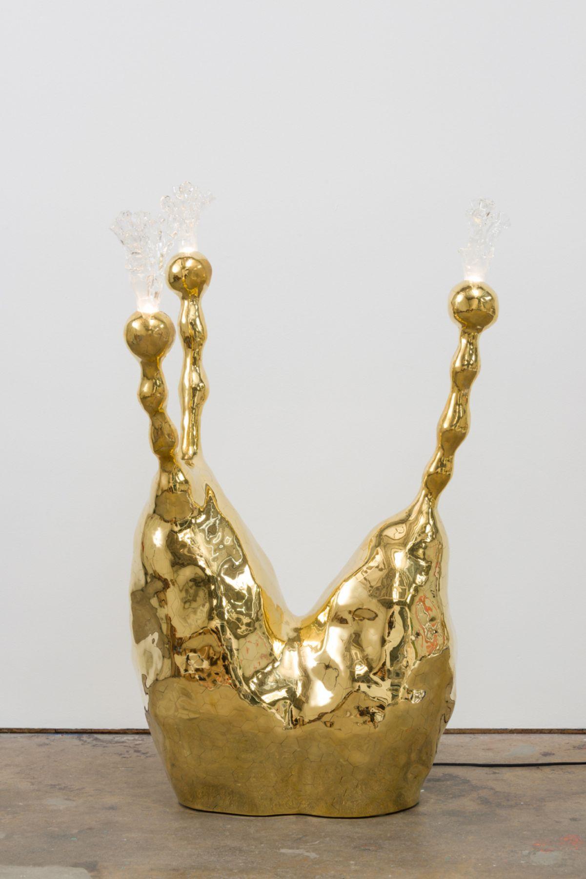 Socatra, 2017 Brass with blown glass shade