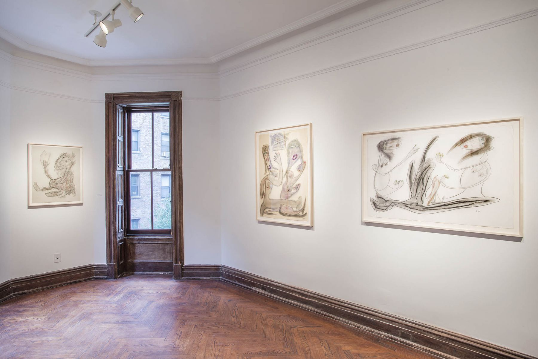 Works on Paper (Installation View), 118 East 64th Street, 2015