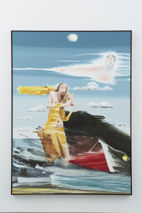 Jonah and the Whale #2, 2012, Water based pigment, color pencil and acrylic on linen