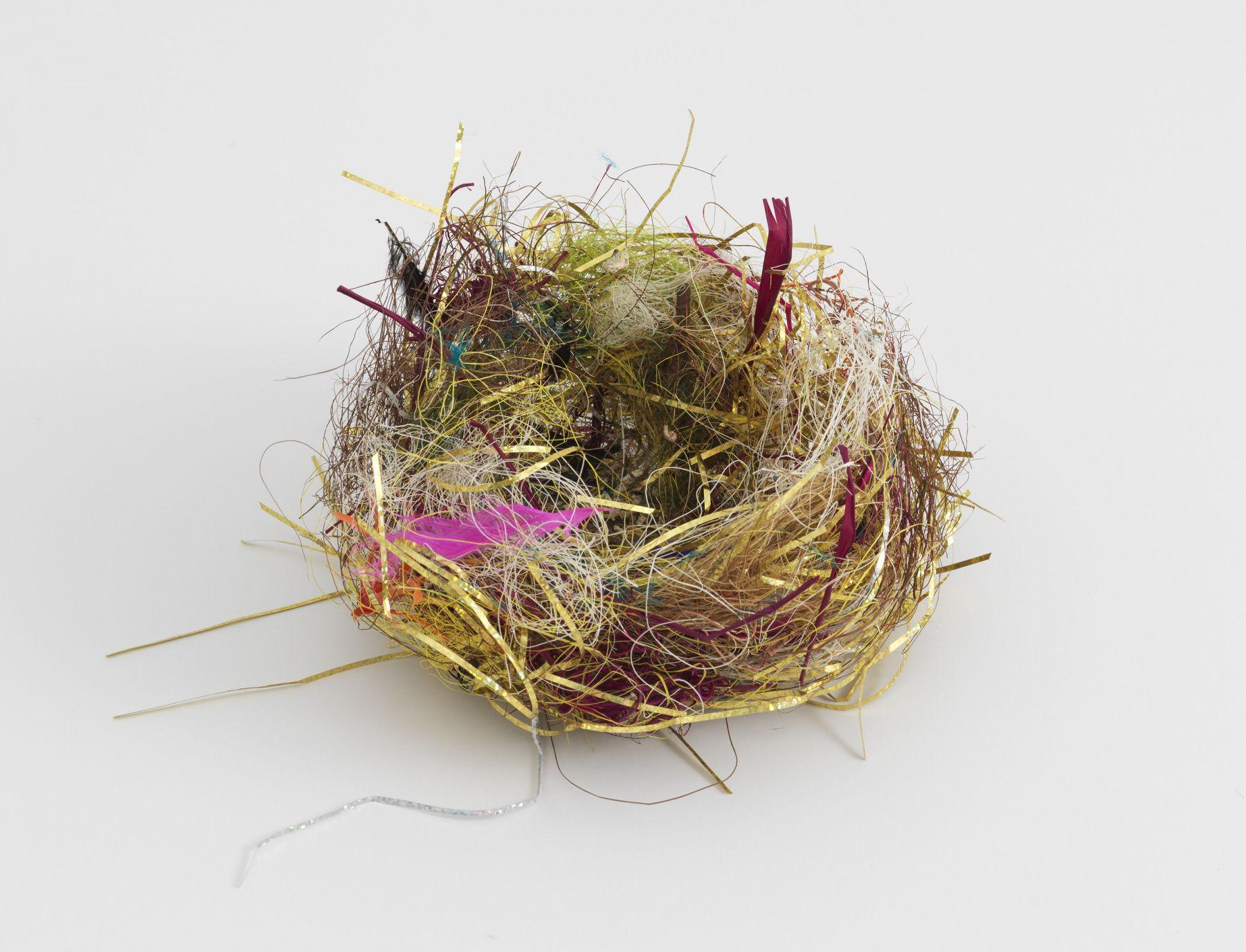 a nest sculpture by the artist Bjorn Braun