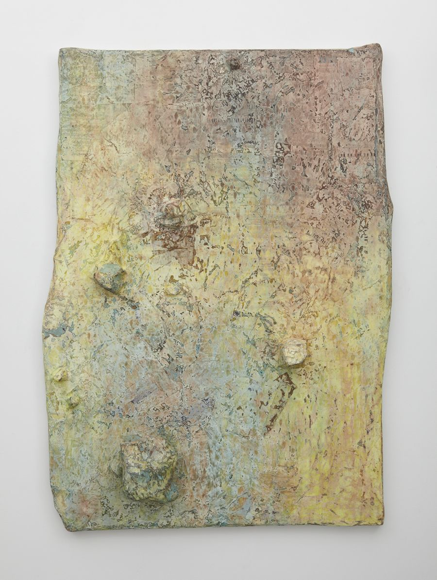 Fur Elise, 2012 , Paper, ink, copper ore, and petrified stone