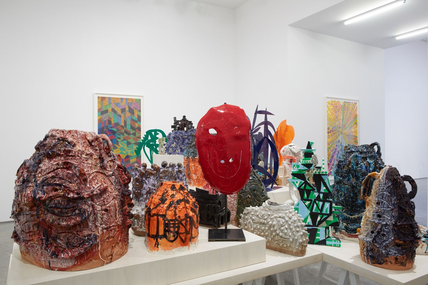 an exhibition of ceramic artworks by william j. o'brien in a new york art gallery