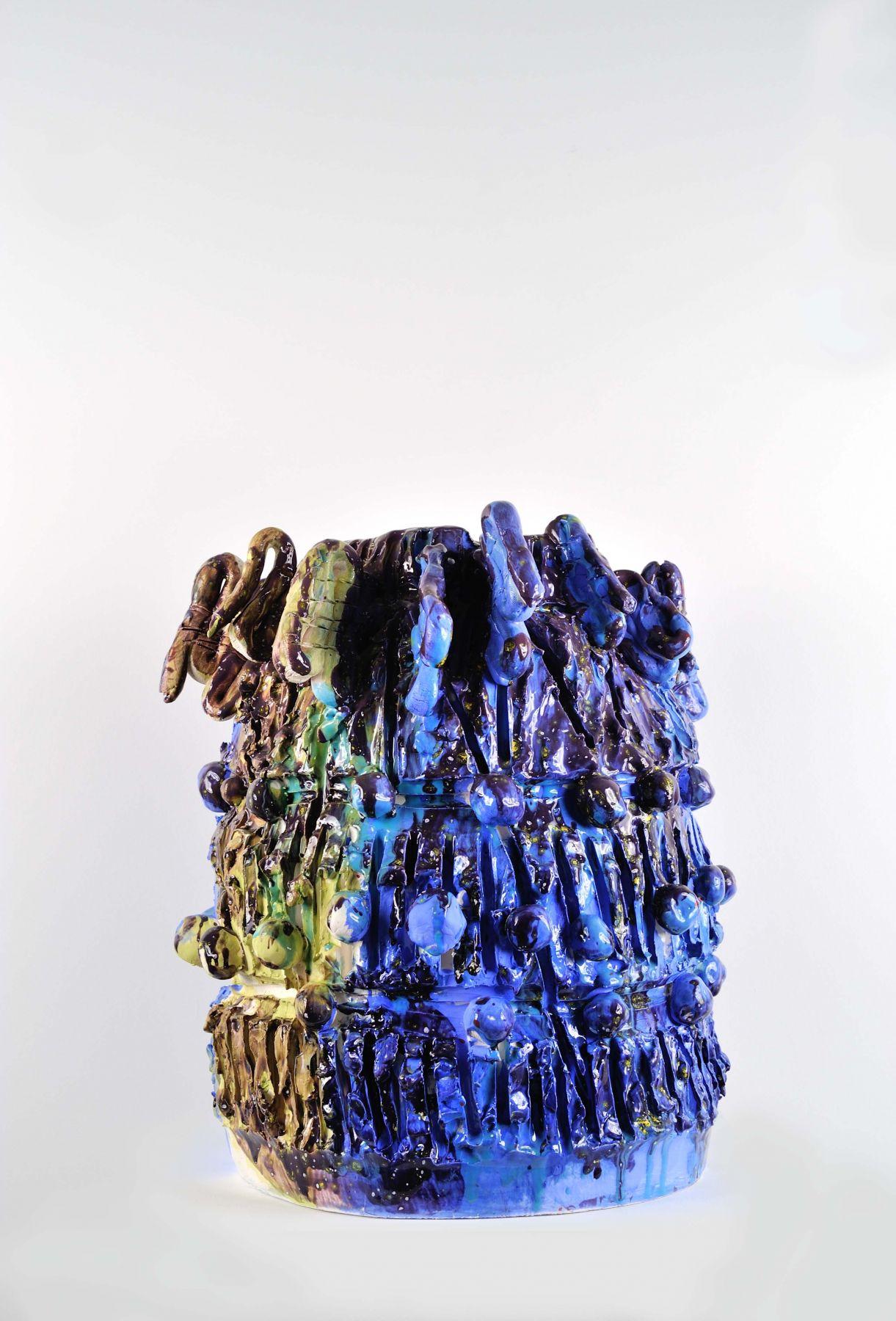 a glazed ceramic sculpture by william j. o'brien, an established contemporary art who makes ceramics