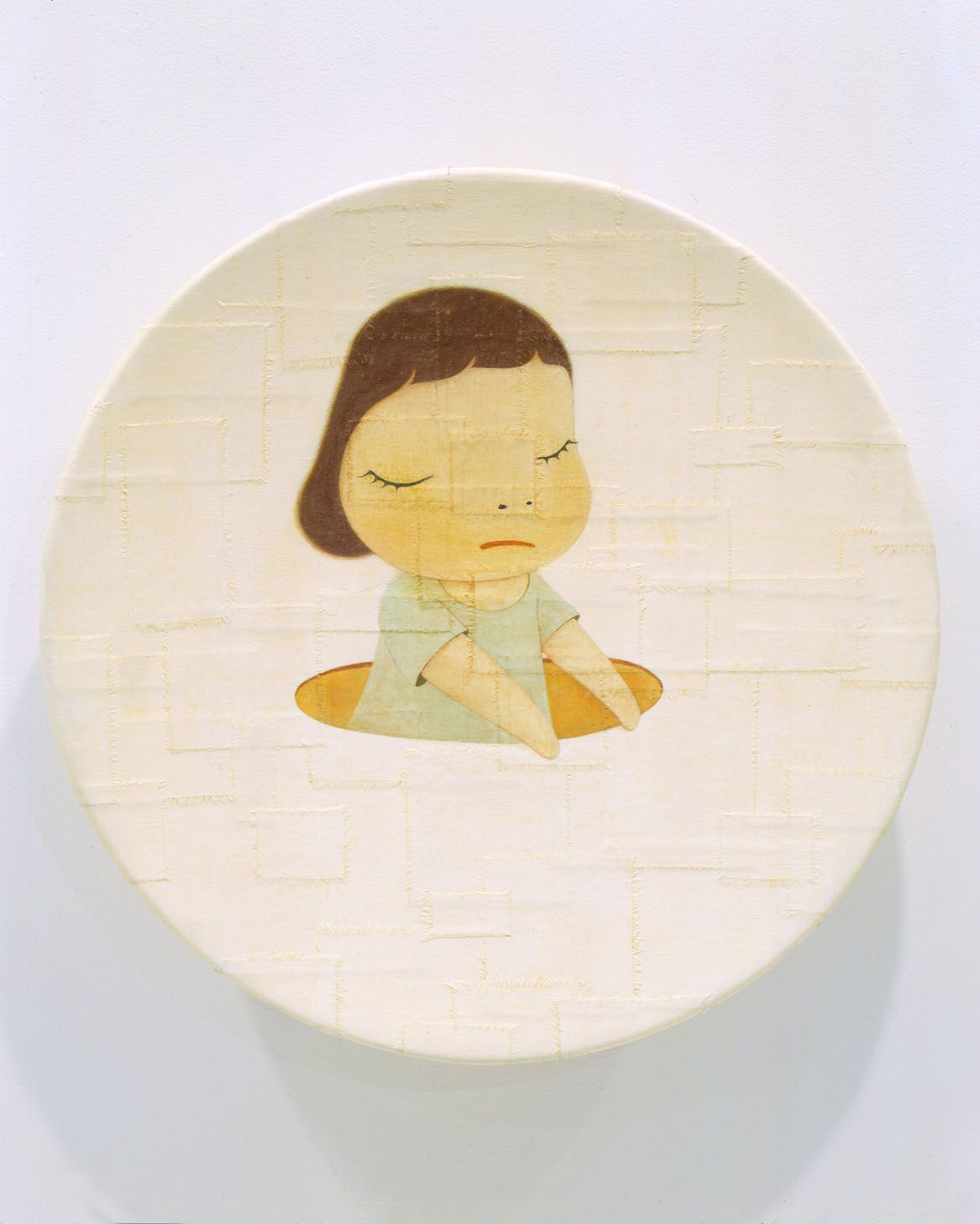 Little Thinker, 2002, Acrylic on canvas over fiberglass