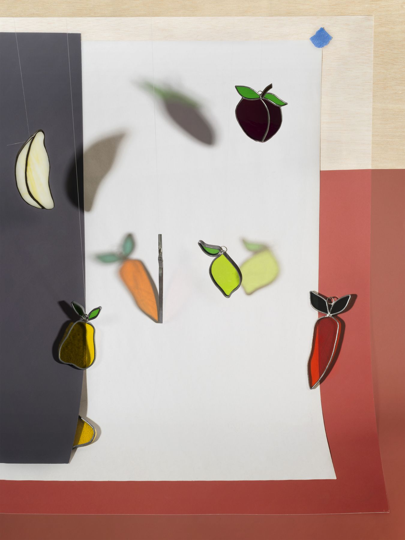 a colorful contemporary print by john houck available for purchase in new york