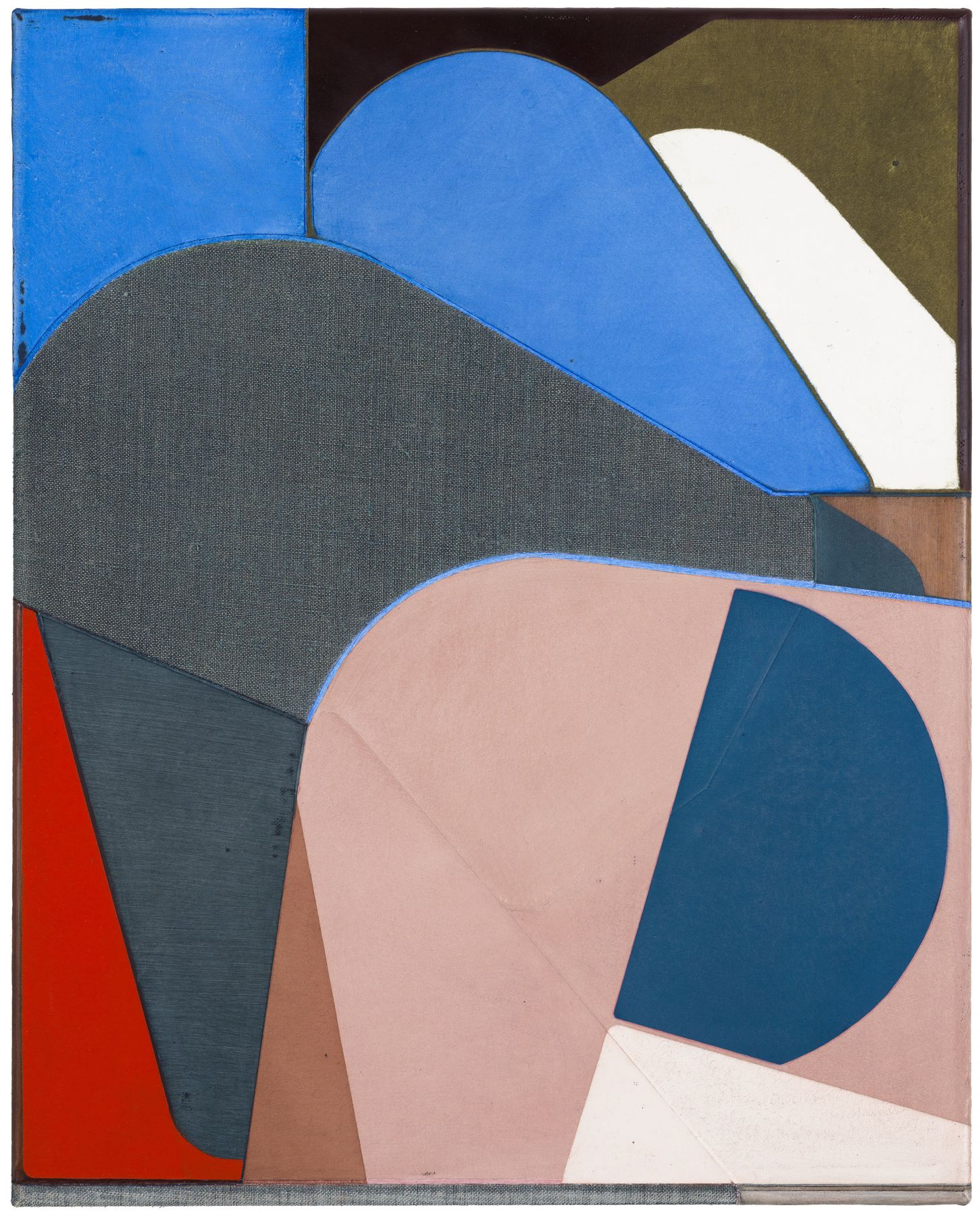 an oil painting of geometric forms by Svenja Deininger