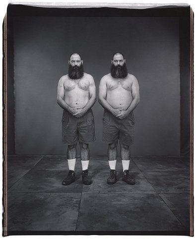 Don and Dave Wolf (from the Twins series), 2002, 	Unique polaroid