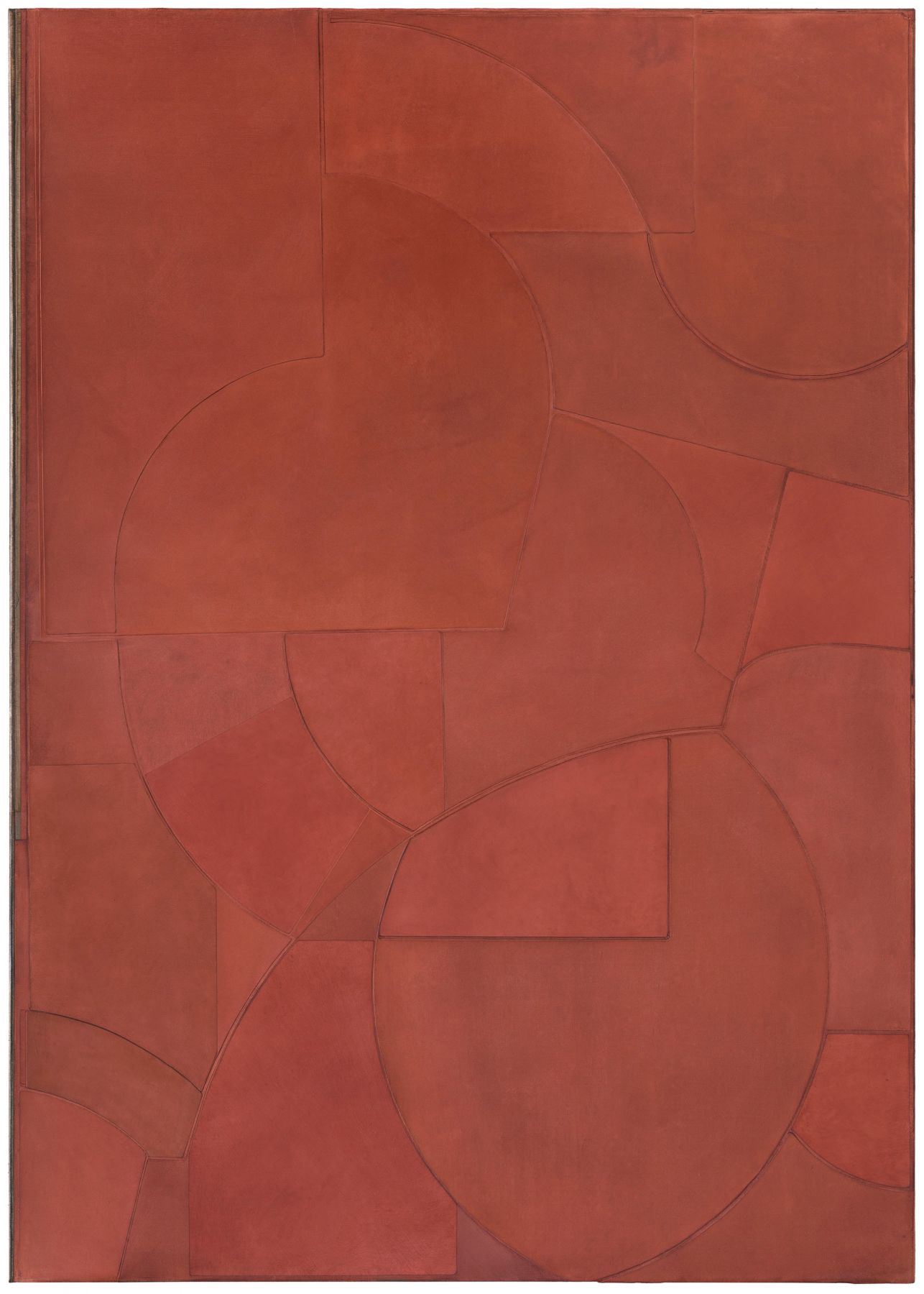 a red painting by Svenja Deininger, the Viennese artist