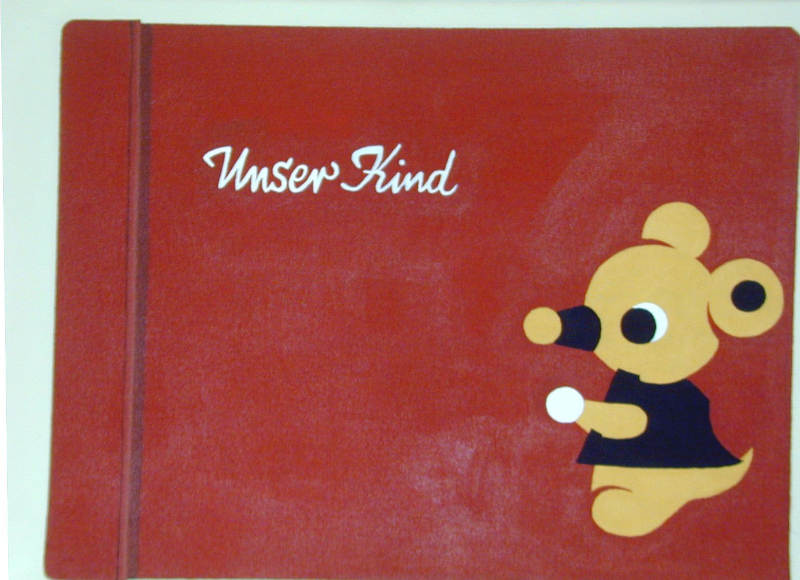 """notebook with mouse and """"unswer kind"""" by franziska holstein"""