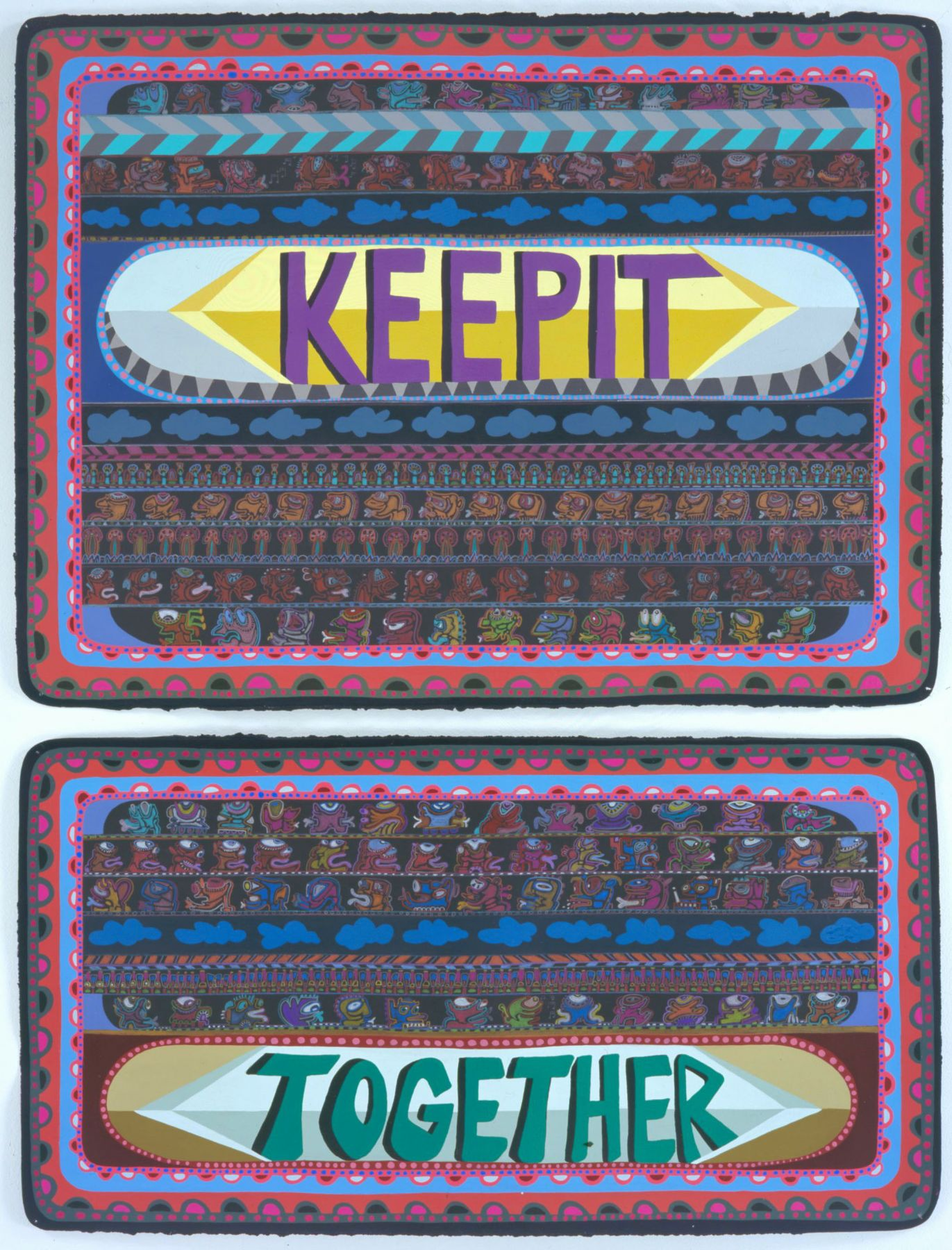 Keep It Together, 2007, Acrylic and ink on paper