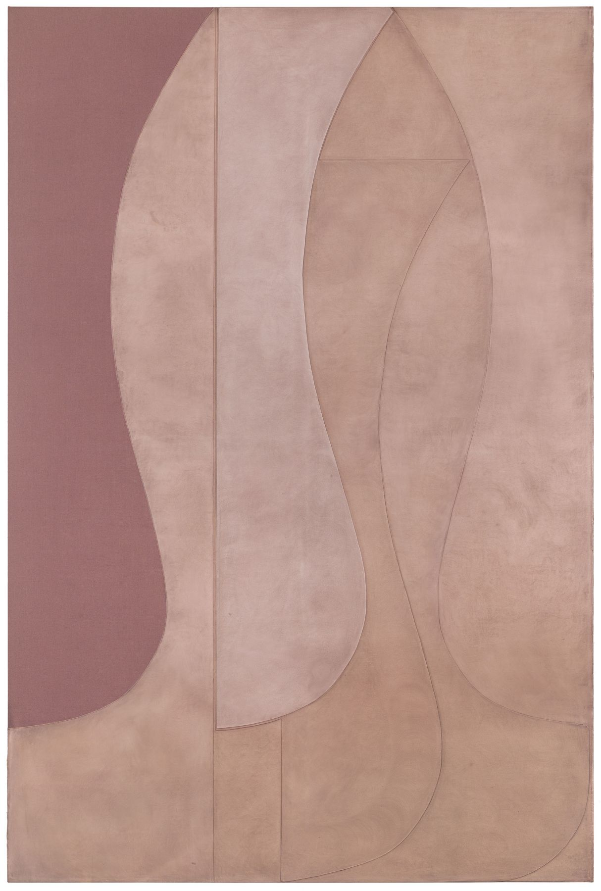 A pink painting by the artist Svenja Deininger