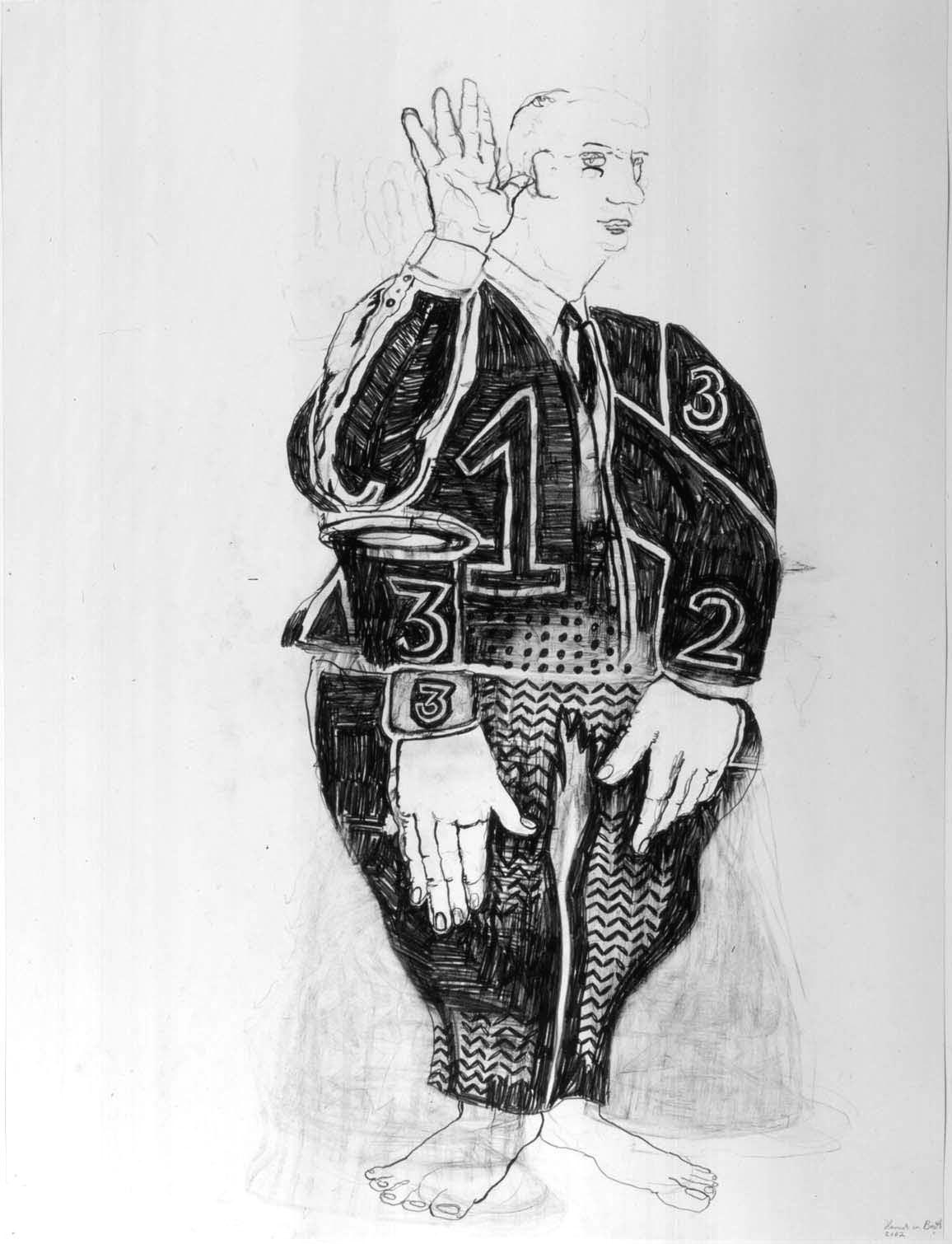 Suspect, 2002, Graphite on paper