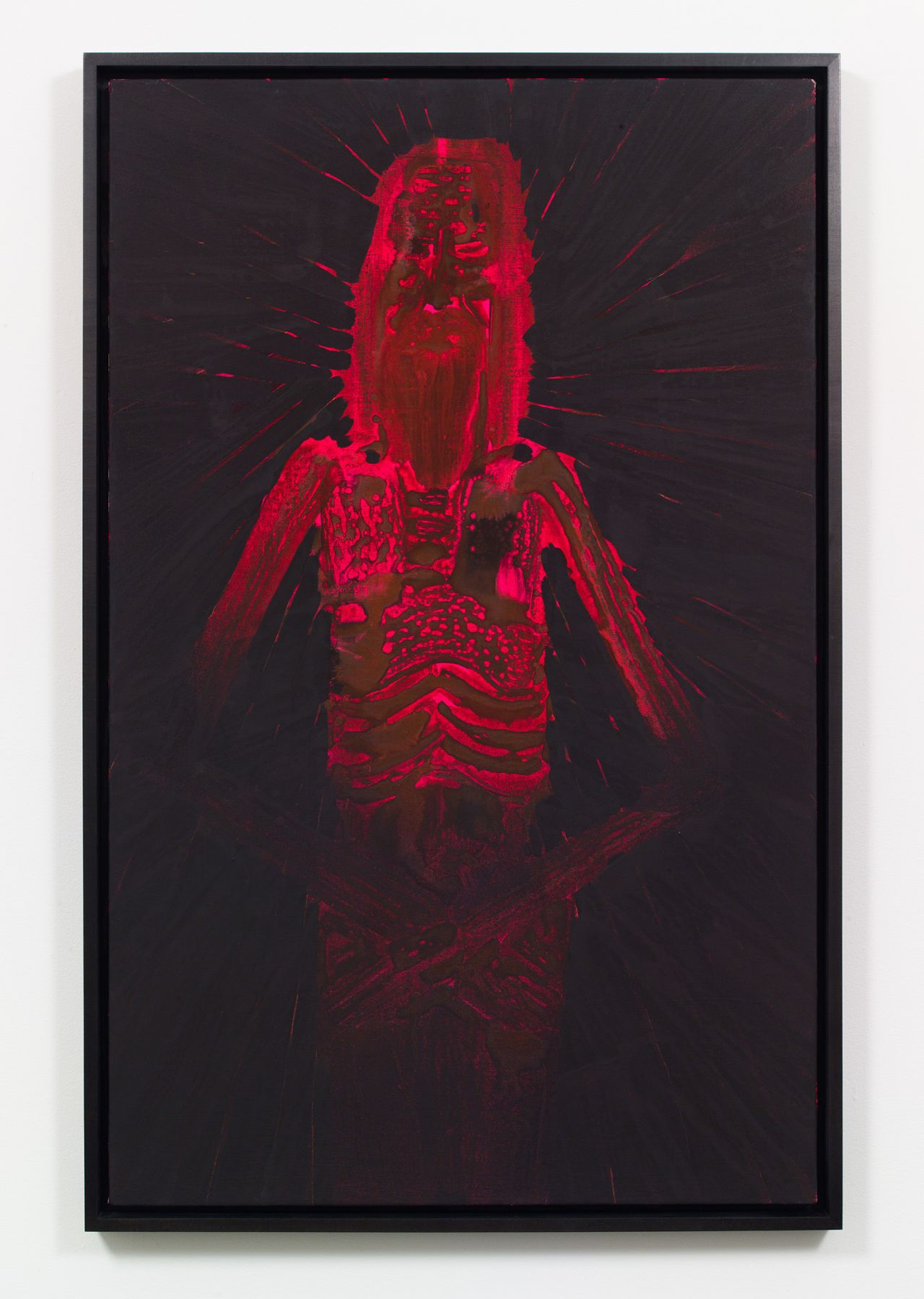portrait of christ in red and black by barnaby furnas