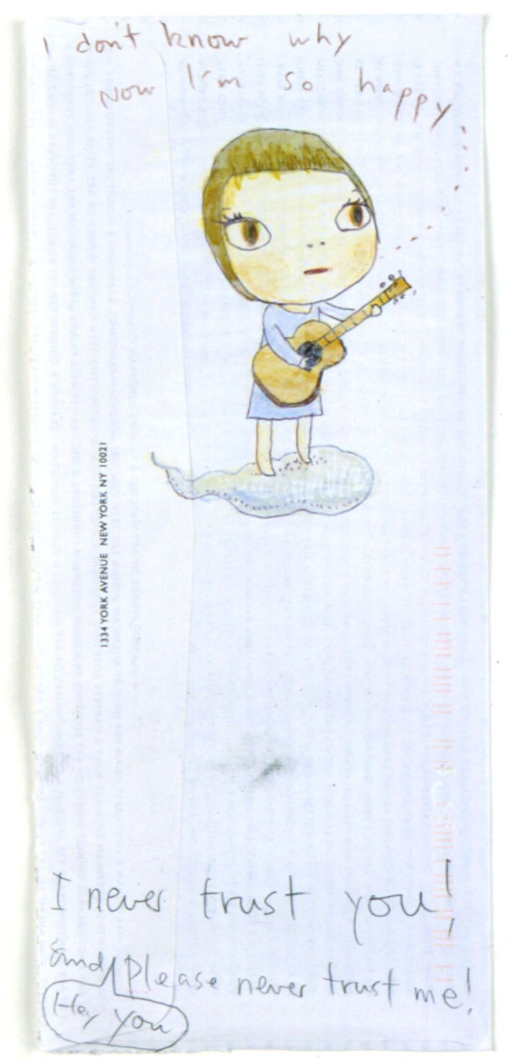 Singer, 2002, Colored pencil and gouache on paper